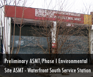 Preliminary Assessment/Phase I Environmental Site Assessment, Waterfront South Service Station