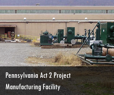 Manufacturing Facility Pennsylvania Act 2 Project